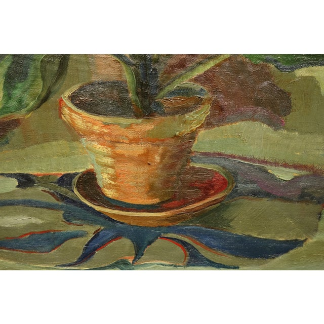 Circa 1940s Vintage American Modernist Still Life Painting - Image 4 of 7
