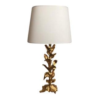 "Gilded ""Vulcain"" Lamp"