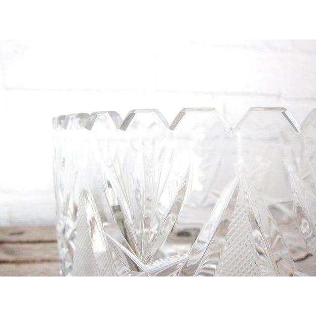 Imperlux Vintage Crystal Fruit Bowl For Sale - Image 4 of 6