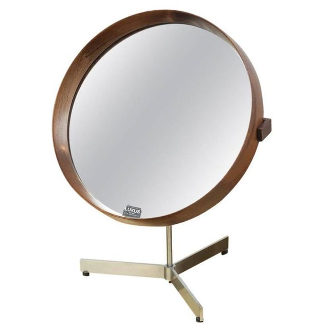 Glass Luxus Rosewood Mirror For Sale - Image 7 of 7