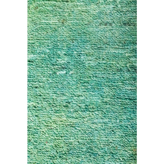 """Contemporary Vibrance Hand Knotted Runner Rug - 2' 6"""" X 9' 10"""" For Sale - Image 3 of 4"""