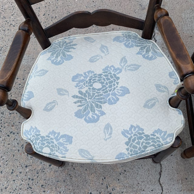 1980s Vintage French Provincial Ladder-Back Armchairs- a Pair For Sale In Denver - Image 6 of 13
