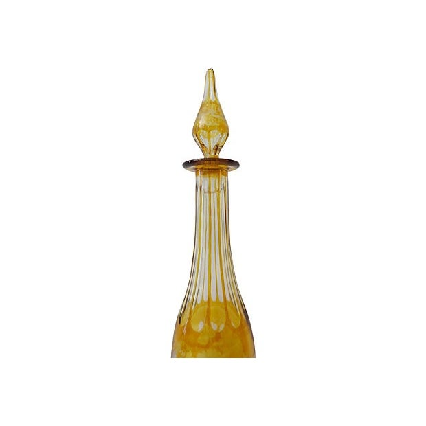 Bohemian Overlay Crystal Decanter For Sale - Image 7 of 7