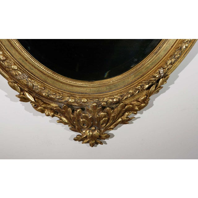 Mid 19th Century French Gilt Mirror with Love Birds For Sale - Image 5 of 8