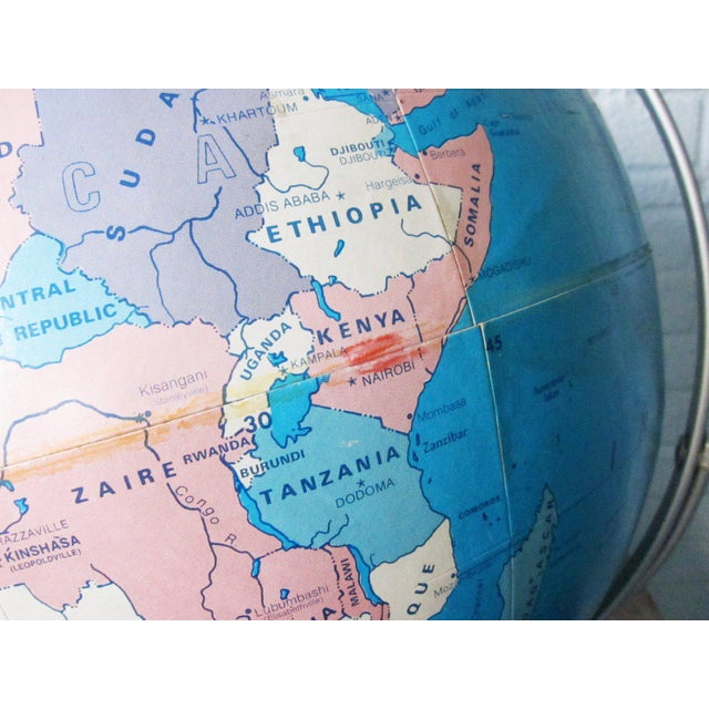 1970s Vintage Large Globe For Sale - Image 4 of 11