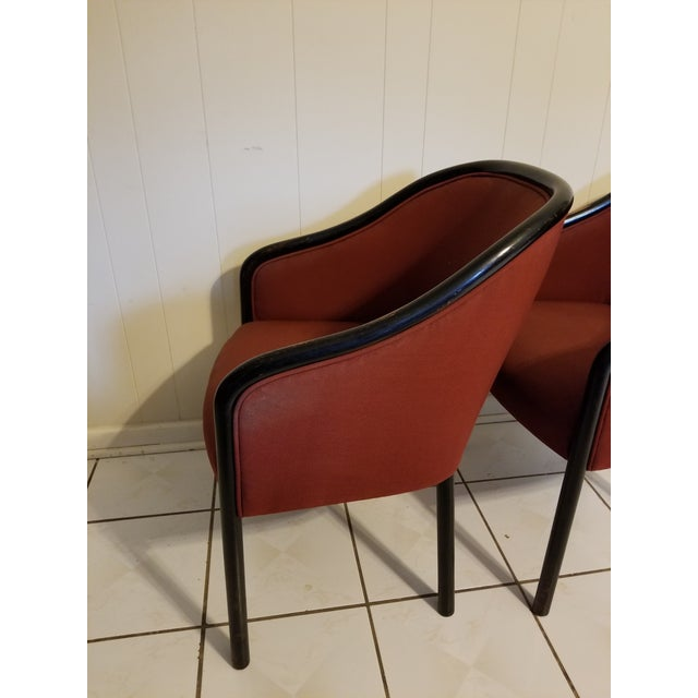 Red Vintage Mid Century Modern Ward Bennett Chairs- A Pair For Sale - Image 8 of 12