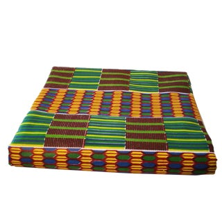 "African Kente Cloth Cotton Fabric,12 Yards by 43"" For Sale"