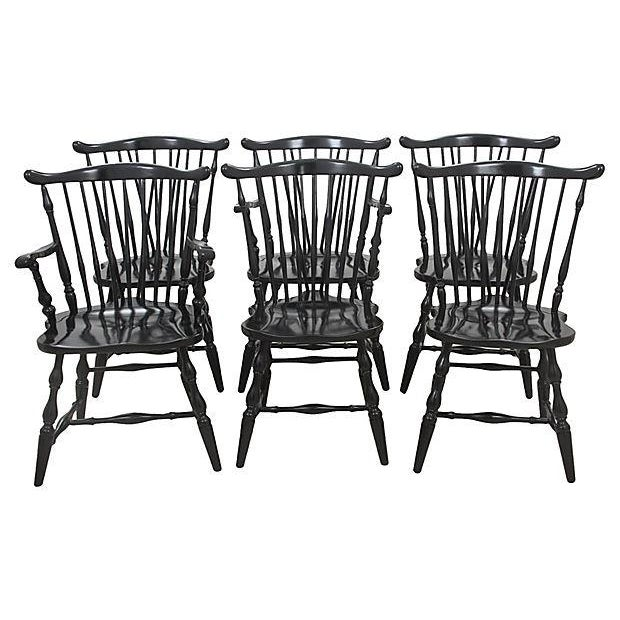 Pennsylvania House Windsor Style Dining Chairs - Set of 6 - Image 5 of 6