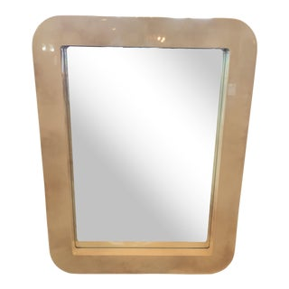 1980s Mid Century Goat Skin Wall Mirror