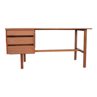 Mid-Century Modern Style Walnut Tanker Desk For Sale