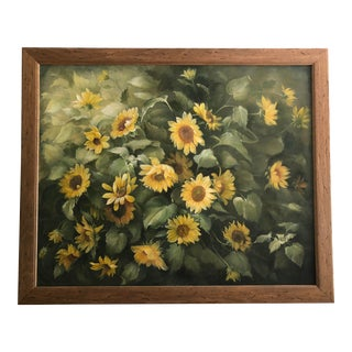 Sunflower Oil on Canvas Painting For Sale