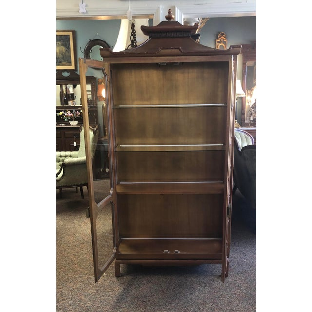 James Mont Chinoiserie Pagoda Curio Cabinet For Sale - Image 10 of 13