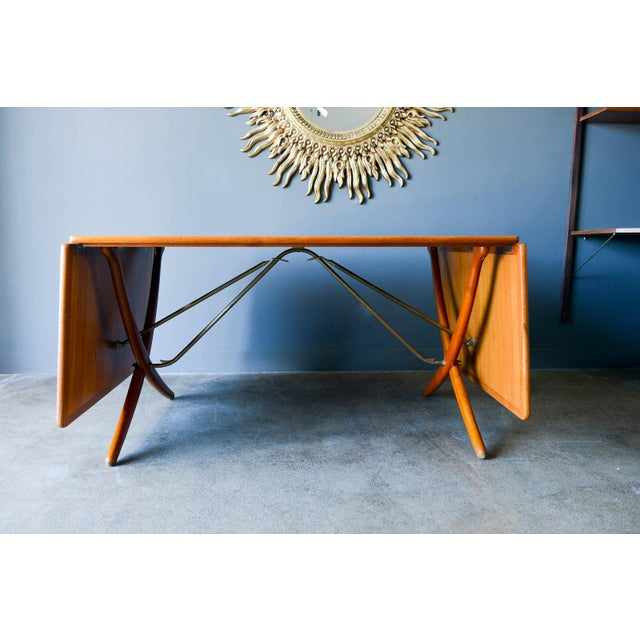 Andreas Tuck Hans Wegner for Andreas Tuck Model At-304 Dining Table, Circa 1955 For Sale - Image 4 of 13