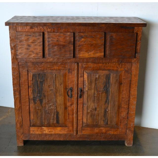 Brown Teak Vintage Wooden Cabinet For Sale - Image 8 of 8 - Teak Vintage Wooden Cabinet Chairish