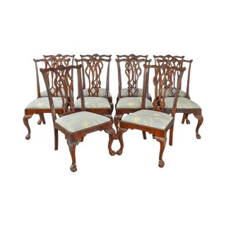 Drexel Chippendale Style Mahogany Ball & Claw Dining Chairs - Set of 10 For Sale