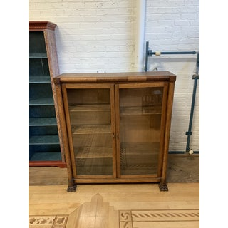 Early 20th Century Tiger Oak Display Cabinet / Bookcase Preview