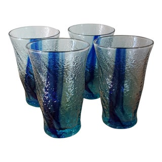 1960s Vintage Mouth Blown Glasses - Set of 4 For Sale
