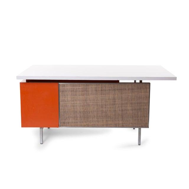 1960s George Nelson Herman Miller Modern Management Desk & Return - 2 Pc. Set For Sale - Image 5 of 9