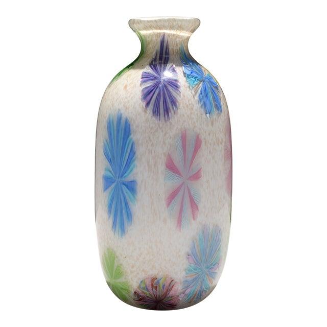 Vintage Dino Martens Pinwheel Design Vase, Provenance Lobel For Sale