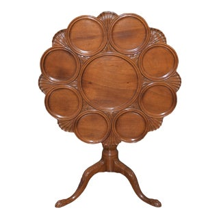 18th Century English Mahogany Tilt Top Serving Table For Sale