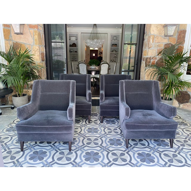 Benjamin Club Chairs - Set of 4 For Sale In Houston - Image 6 of 6