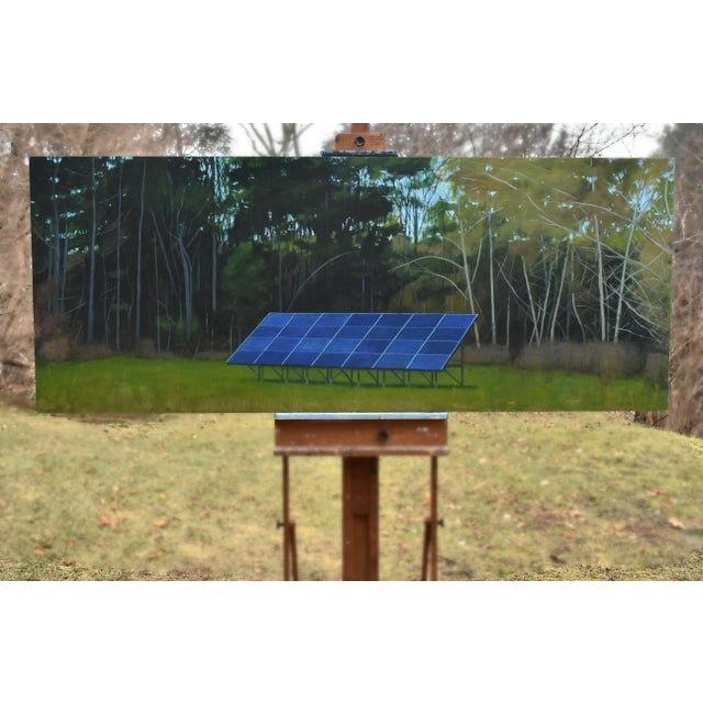 "Contemporary ""Back Yard Solar Panels"" Painting by Stephen Remick For Sale - Image 3 of 13"