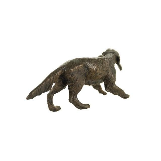 Vintage Austrian Bronze Setter Dog Figurine For Sale In Los Angeles - Image 6 of 9