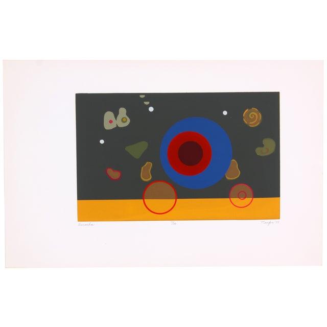 Circular Biomorphism Print by T. Confer, 1975 - Image 1 of 6