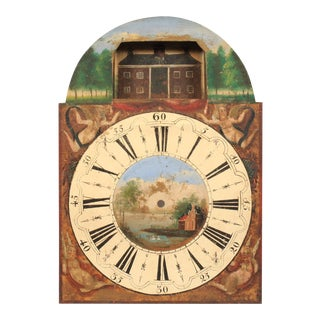 19th-C. Hand-Painted Clock Face For Sale