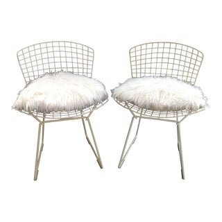 Vintage Knoll Bertoia Wire Chairs - A Pair