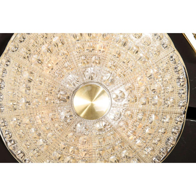 Mid-Century Modern Mid-Century Modernist Flush Mount Chandelier by Carl Fagerlund for Orrefors For Sale - Image 3 of 7