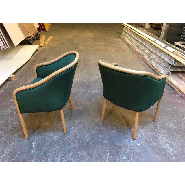1980s 1980s Vintage Ward Bennet Cerused Oak Chairs- A Pair For Sale - Image 5 of 12