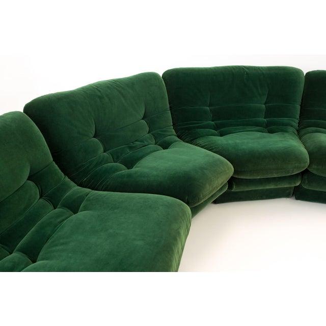 Mid-Century Modern Vladimir Kagen for Preview Hunter Green Velvet Sectional Sofa For Sale - Image 10 of 12