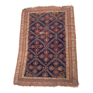 Antique 1920s Persian Afshar Area Rug- 3′11″ × 5′7″ For Sale