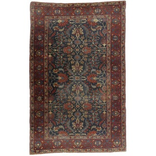 Antique Persian Tabriz Traditional Style Wool Rug - 5′11″ × 9′3″ For Sale