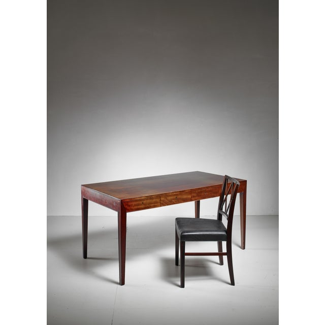 Mid-Century Modern Severin Hansen Desk with Matching Chair for Haslev, Denmark, 1960s For Sale - Image 3 of 6