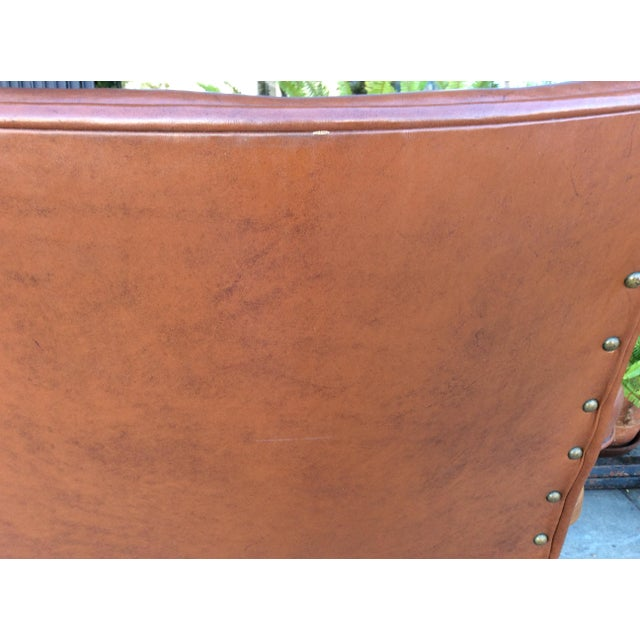 Vintage Faux Leather Side Chairs - a Pair For Sale In Los Angeles - Image 6 of 11