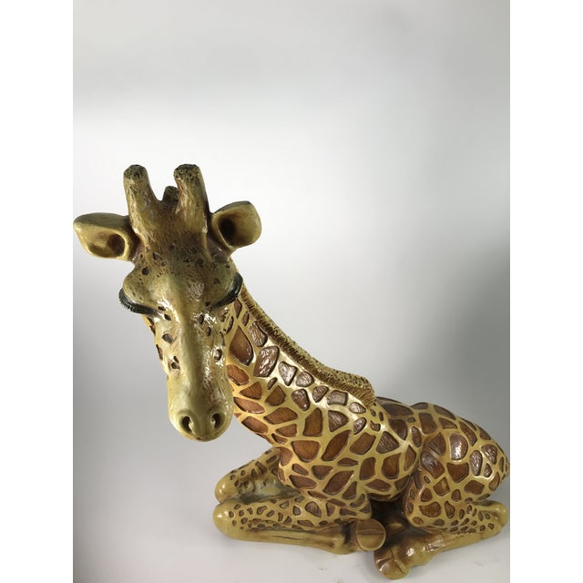1970s Vintage Marwal Chalkware Giraffe Sculpture For Sale - Image 11 of 13
