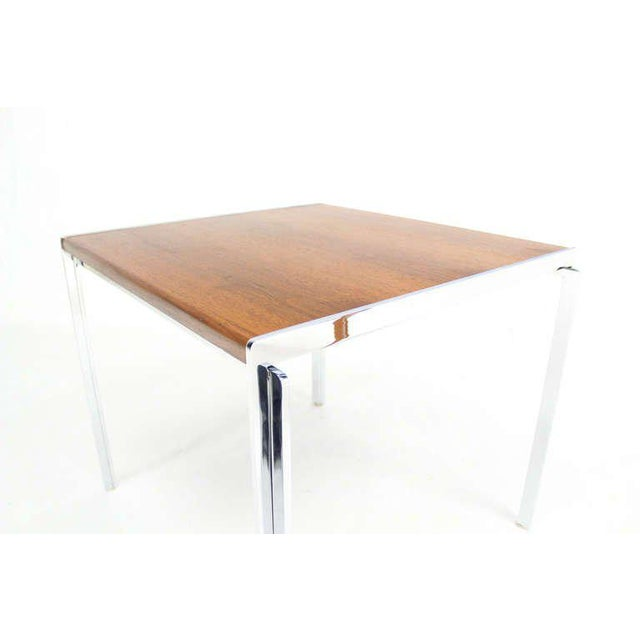 Mid-Century Modern Stow Davis Walnut and Chrome Coffee Table For Sale - Image 6 of 11