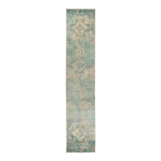 """Vibrance Hand Knotted Runner Rug - 2' 7"""" X 12' 4"""" For Sale"""
