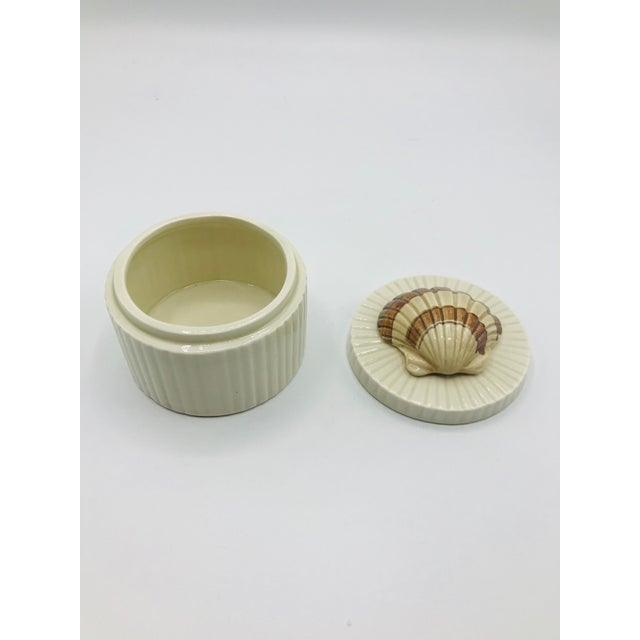 Fitz and Floyd Fitz and Floyd Seashell Lidded Box For Sale - Image 4 of 7