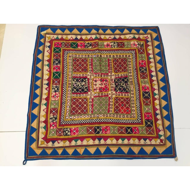 Late 19th Century Embroidered Ceremonial Chakla Cloth Textile For Sale - Image 11 of 11