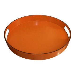 Orange Lacquer Serving Tray Hermes Inspired
