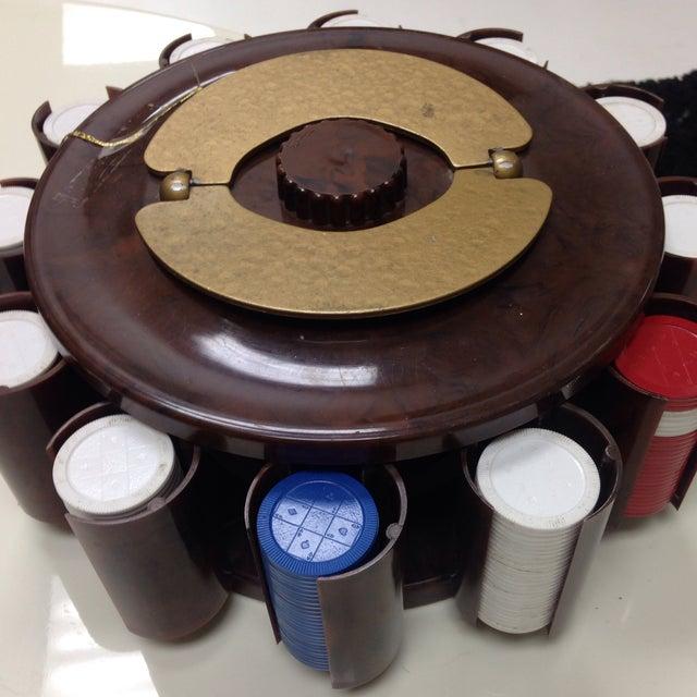"Vintage Bakelite ""TurnIt"" Poker Chip Caddy - Image 6 of 6"