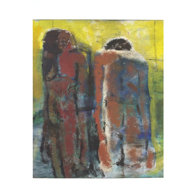 1980s Original Expressionist Painting by Alberto Weller For Sale - Image 5 of 6