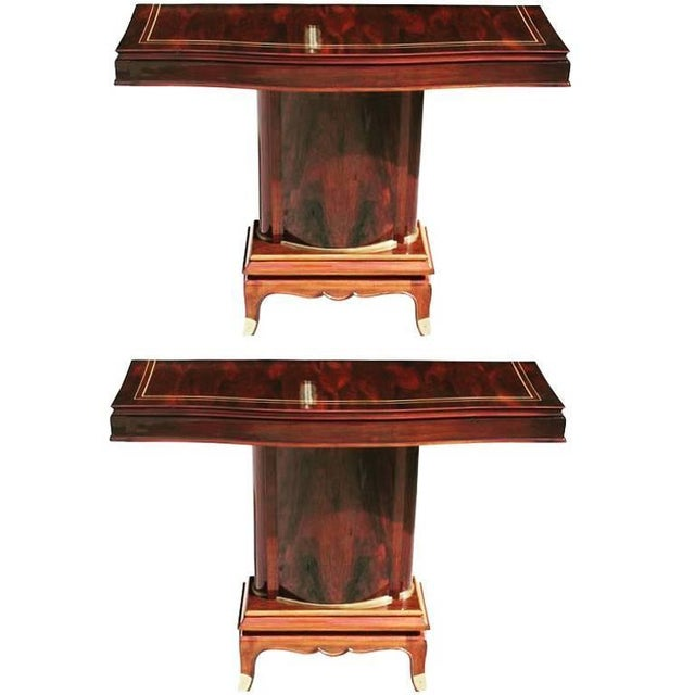 Jules Leleu French Art Deco Palisander Console Tables - A Pair - Image 1 of 10