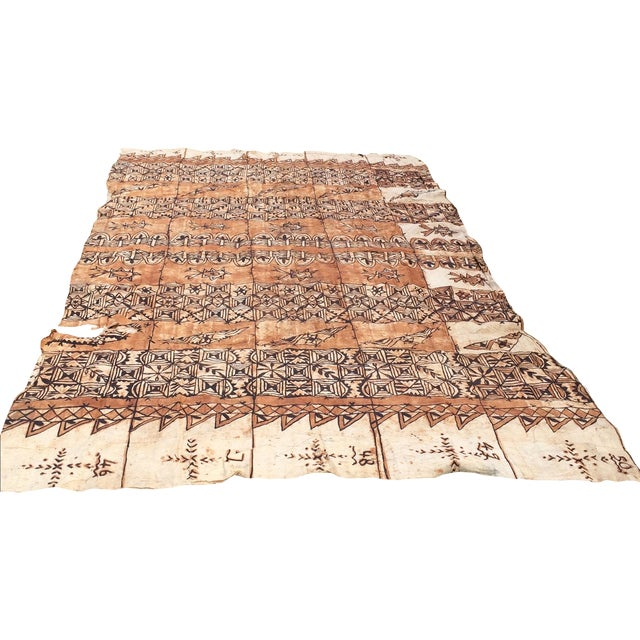 Tapa Cloth Wall Hanging For Sale
