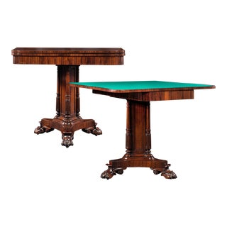 Regency Rosewood Card Tables For Sale