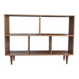 Modern Walnut Bookcase Shelf