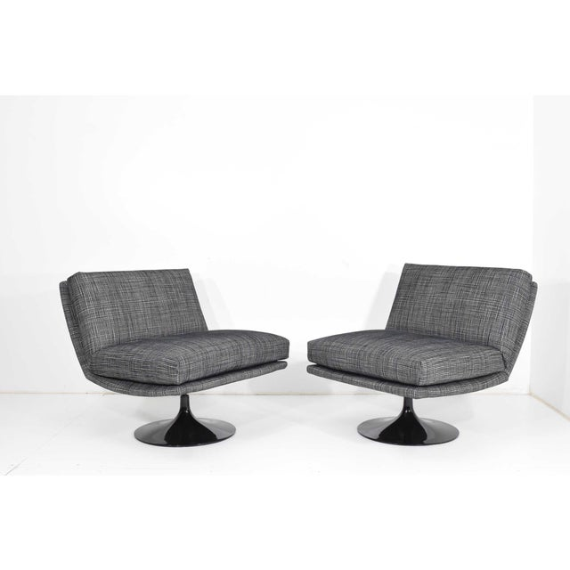 Adrian Pearsall for Craft Associates Swivel Chairs For Sale - Image 10 of 10